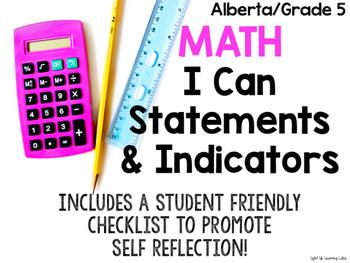 I Can Math Statements & Indicators