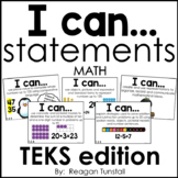 I Can Math Statements TEKS edition First Grade