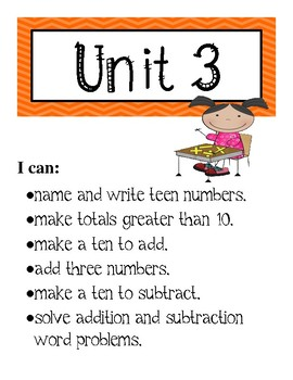 I Can Math Statements for I-Ready Math Series - First Grade