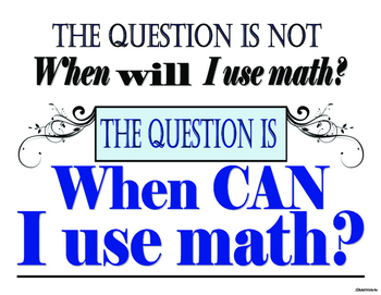 I Can Math classroom poster