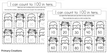 Counting to 100 in Tens - Prek Maths Activities