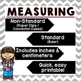 I Can Measure! (QUICK PRINTABLE)