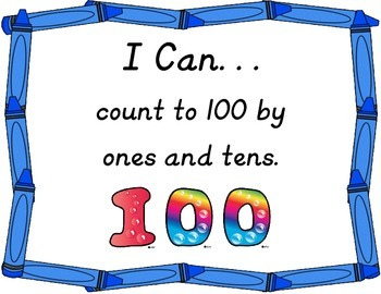 """I Can"" Poster Sampler Set for Kindergarten Math"