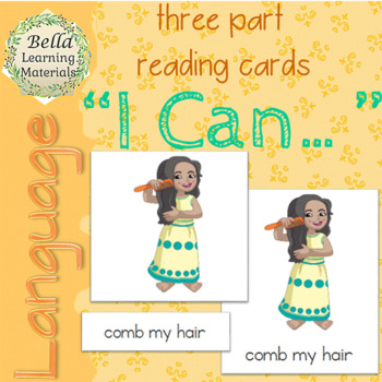 "Montessori ""I Can..."" 3-Part Cards"