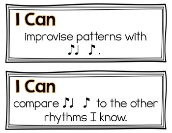 I Can Music Learning Targets: Fourth Grade