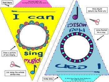 I Can Music Pennants, Classroom Decor, Bulletin Boards, Open House