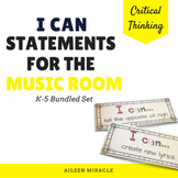 Music I Can Statements {Bundled Set}
