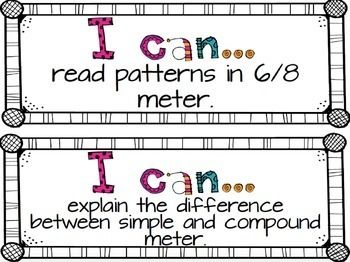 Music I Can Statements {Fifth Grade}