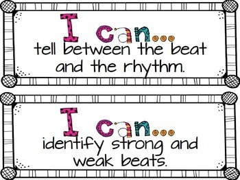 """""""I Can"""" Music Statements {First Grade}"""