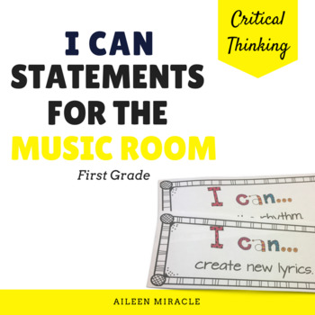 Music I Can Statements {First Grade}