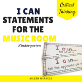 Elementary Music I Can Statements {Kindergarten}