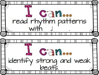 """""""I Can"""" Music Statements {Second Grade}"""