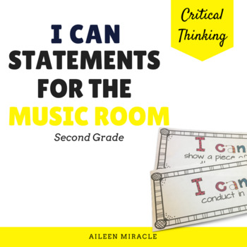 Elementary Music I Can Statements {Second Grade}