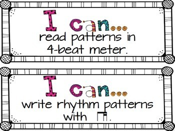 """I Can"" Music Statements {Third Grade}"