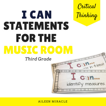 Music I Can Music Statements {Third Grade}