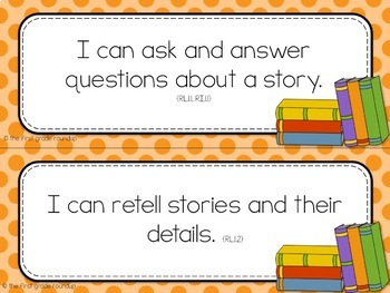 1st Grade Objective Cards: DOTS (Common Core Aligned)