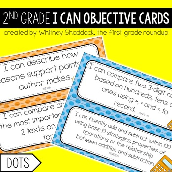 I Can Objective Cards: DOTS, 2nd Grade CCSS