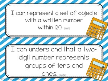 I Can Objective Cards: STRIPES, 1st Grade CCSS