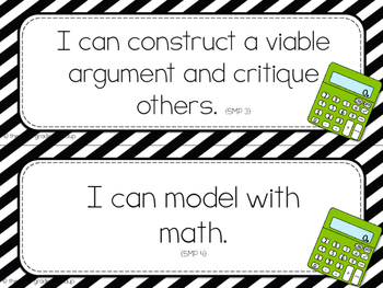 2nd Grade Objective Cards (I Cans): STRIPES, Common Core Aligned