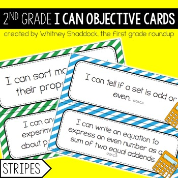 I Can Objective Cards: STRIPES, 2nd Grade CCSS