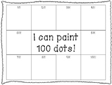 I Can Paint 100 Dots! -- 100th Day of School Activity