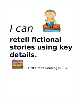 I Can Poster Retelling Reading