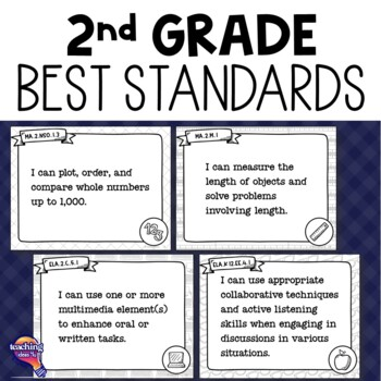"""""""I Can"""" Posters 2nd Grade LAFS MAFS NGSSS Core Classes Florida Standards"""