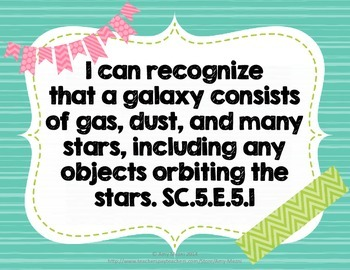 """""""I Can"""" Posters 5th Grade NGSSS Science & Social Studies Standards Florida"""