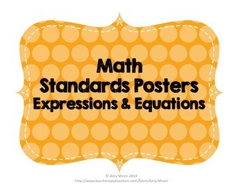 """I Can"" Posters 6th Grade MAFS Mathematics Florida Standards"