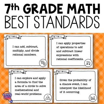 """I Can"" Posters 7th Grade MAFS Mathematics Florida Standards"