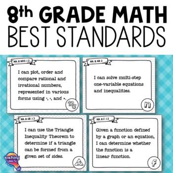 """I Can"" Posters 8th Grade MAFS Mathematics Florida Standards"