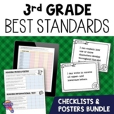 I Can Posters & Checklists Bundle 3rd Grade Florida LAFS MAFS NGSSS Standards