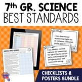 I Can Posters & Checklists Bundle 7th Grade Florida NGSSS Science Standards