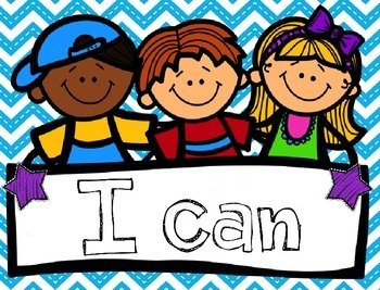 """I Can"" Posters- Commom Core Standards Aligned (Color and B/W versions))"