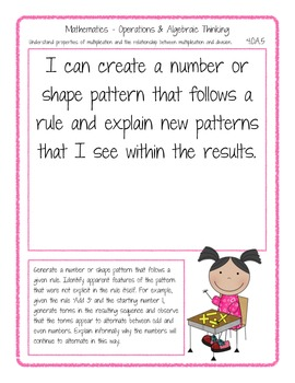 I Can Posters - Common Core - 4th Grade Math