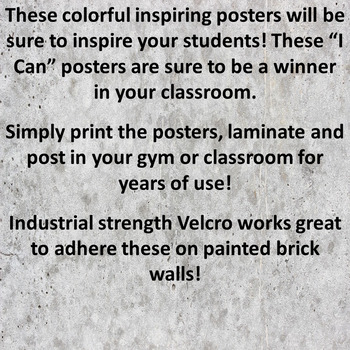 I Can Posters - Dribbling!  Soccer and Basketball Theme!