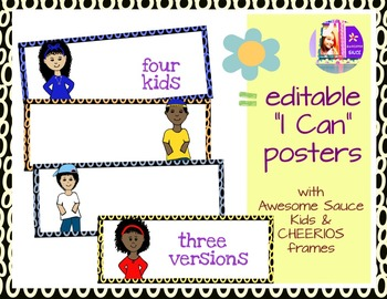 I Can Posters Editable - Cheerios border