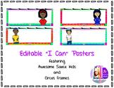 I Can Posters Editable - Circus border