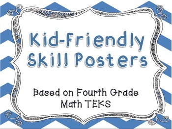 I Can Statement Posters - Fourth Grade Math TEKS