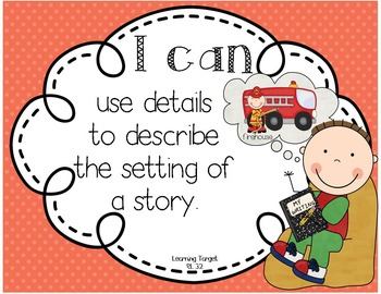 I Can Posters: L.A. Learning Targets for Reading Literature: First Grade