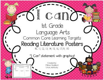 I Can Posters: L.A. Learning Targets for Reading Literatur