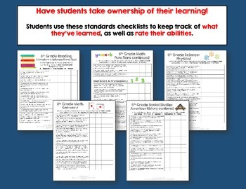 I Can Posters & Student Checklists Bundle 8th Grade Florida Standards