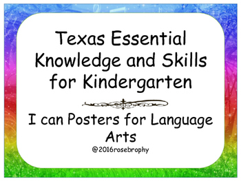I Can Posters, TEKS Language Arts