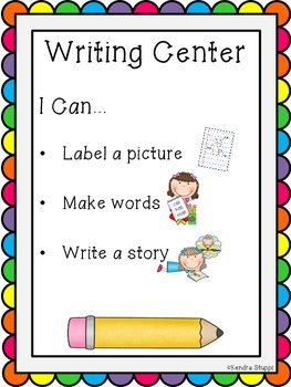 """""""I Can"""" Posters for Work Stations/ Centers"""