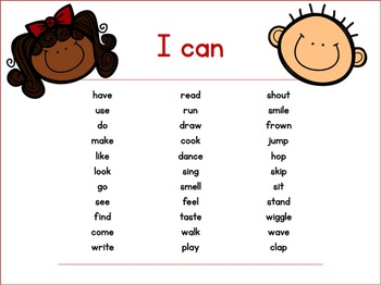 'I Can' - Reader and Sight Words