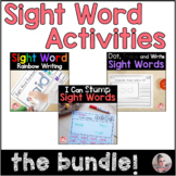 I Can Practice Sight Words Bundle with 3 Activities for Literacy Centers