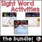 Kindergarten Sight Word Activities Bundle