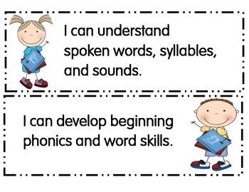 Preschool I Can Statements Pennsylvania
