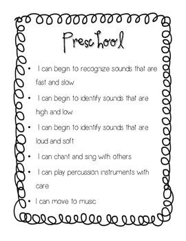 """""""I Can"""" Preschool/Kindergarten Curriculum Statements"""