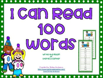 I Can Read 100 Words- 100th Day